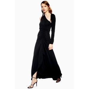 Topshop Slash Jersey Maxi Dress
